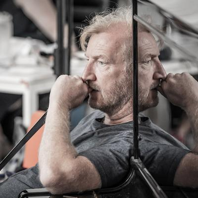 Steffan Rhodri in rehearsals for Blood Wedding. Young Vic 2019. Photo by Marc Brenner.