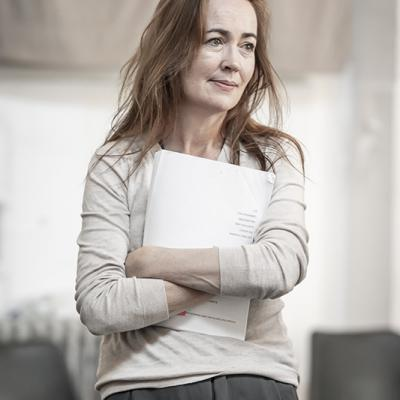 Marina Carr in rehearsals for Blood Wedding. Young Vic 2019. Photo by Marc Brenner.