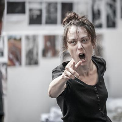 Scarlett Brookes in rehearsals for Blood Wedding. Young Vic 2019. Photo by Marc Brenner.