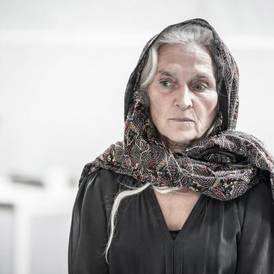 Olwen Fouéré in rehearsals for Blood Wedding. Young Vic 2019. Photo by Marc Brenner.
